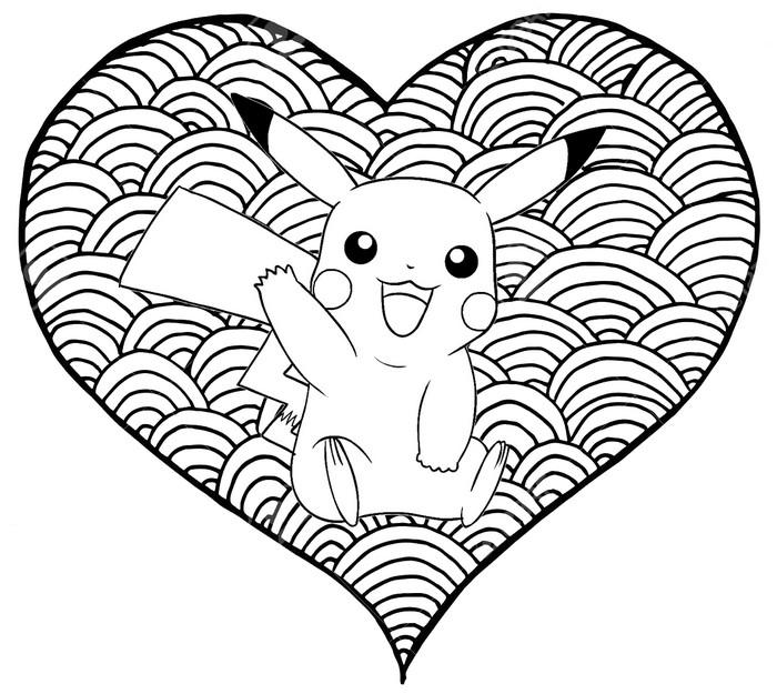 Malvorlagen Pikachu  Herz Pikachu 12
