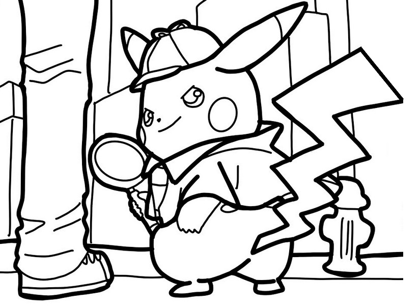 Malvorlagen Pikachu  Meisterdetektiv Pikachu 3