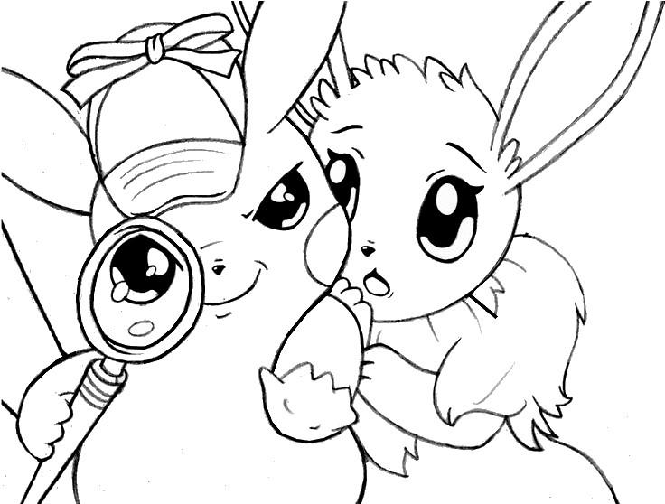 Malvorlagen Pikachu  Meisterdetektiv Pikachu und Evoli 6