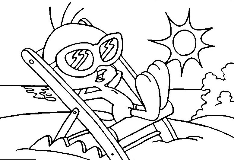 Coloring page Summer 8