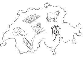 Malvorlagen Europa  die Schweiz 12