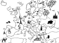Coloring page Europa 7