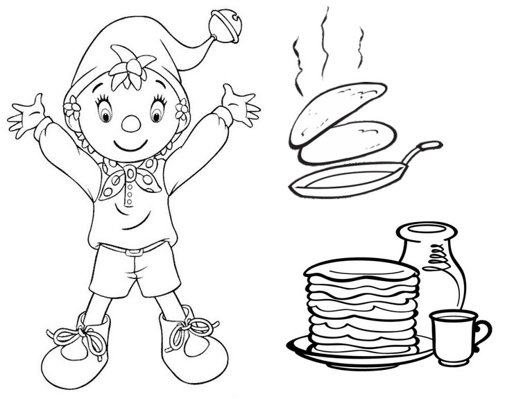 Pancake Coloring Sheet Coloring Pages