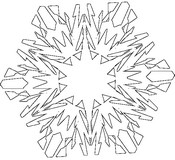 Malvorlagen Schneeflocken - Morning Kids