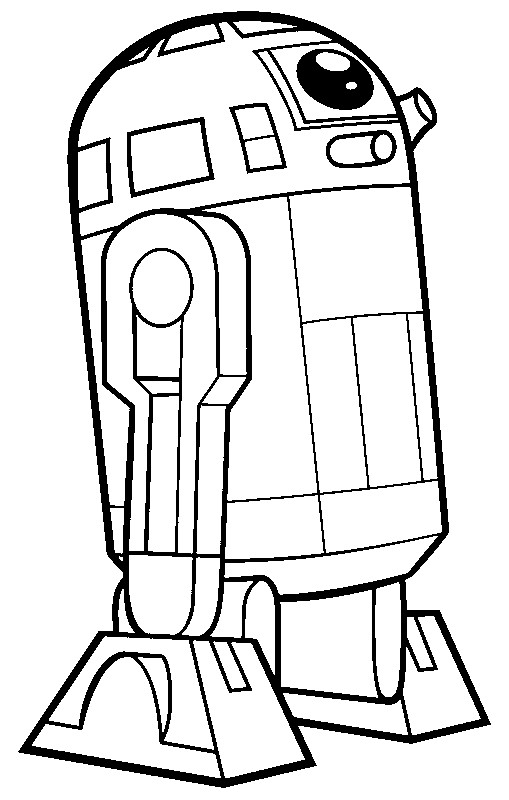 Free coloring pages of r2d2 star wars