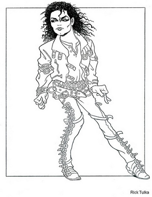 Michael Jackson Easy Coloring Pages