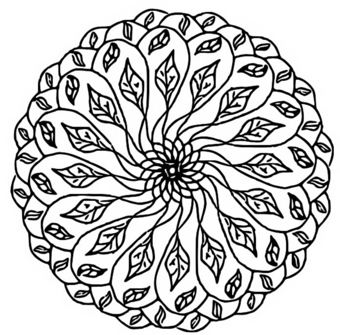 Malvorlagen Mandalas von Herbst 4