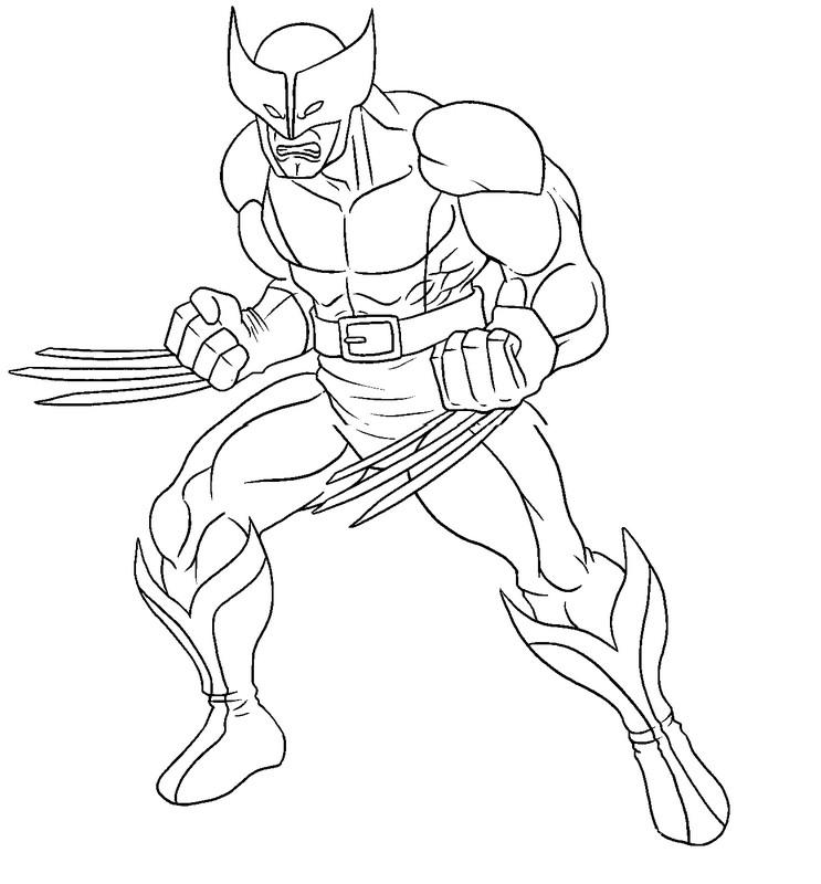 Kleurplaat Wolverine 2