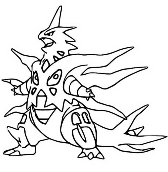 Kleurplaat Pokemon Mega Evolutie Mega Tyranitar 248 248