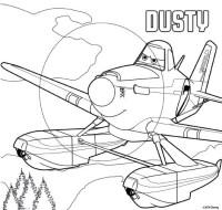 Dibujo para colorear Aviones 2 Equipo de rescate : Dusty 1