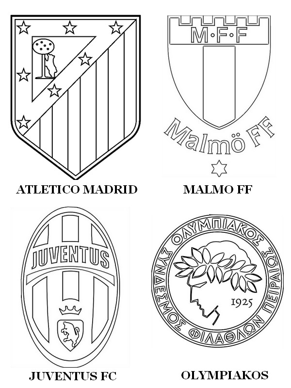 madrid logo coluring coloring pages