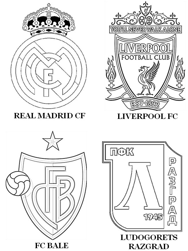 Free coloring pages of liverpool fc badge