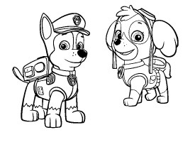 Chase From Paw Patrol   Free Colouring Pages
