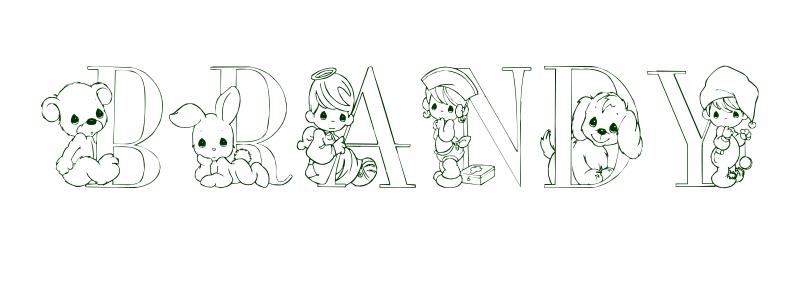 Coloring Page First Name Brandy