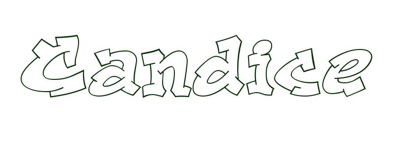 Coloring Page First Name Candice