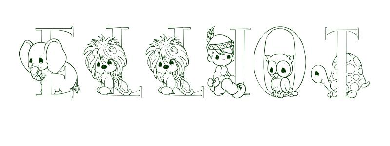 Coloring Page First Name Elliot