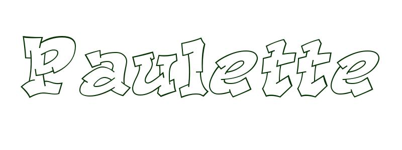 Coloring Page First Name Paulette