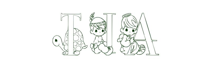 Coloring Page First Name Tia