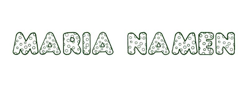 Malvorlagen Vorname Maria Namen