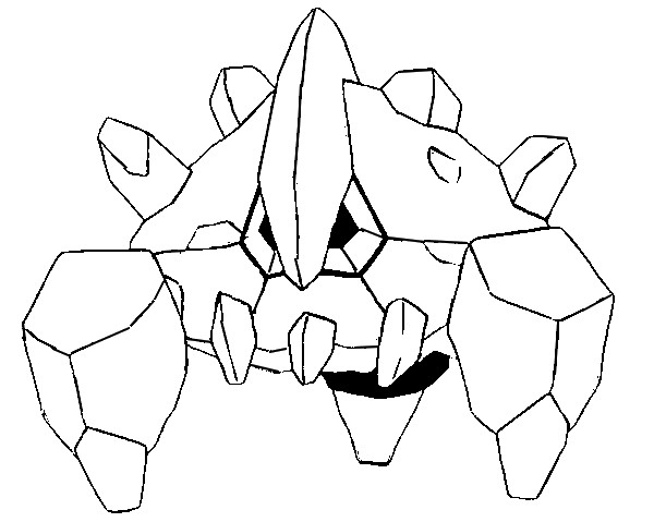 Pokemon Boldore Coloring Pages