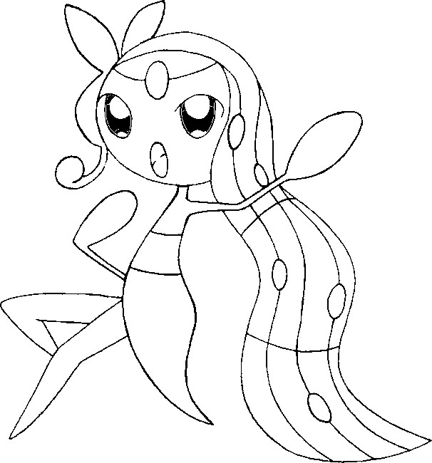 Coloring Pages Pokemon Meloetta Drawings Pokemon