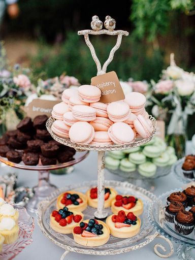 macrons wedding food station ideas