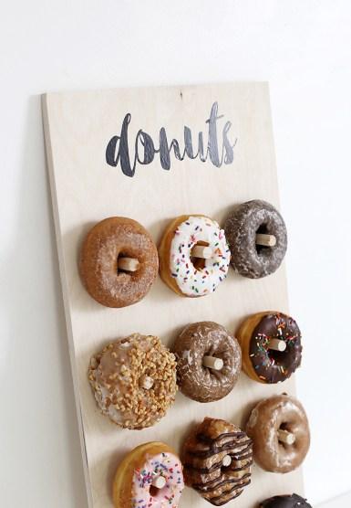 donut wedding food station ideas