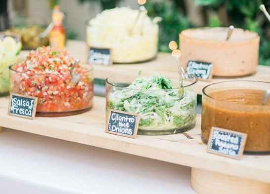 salads wedding food station ideas