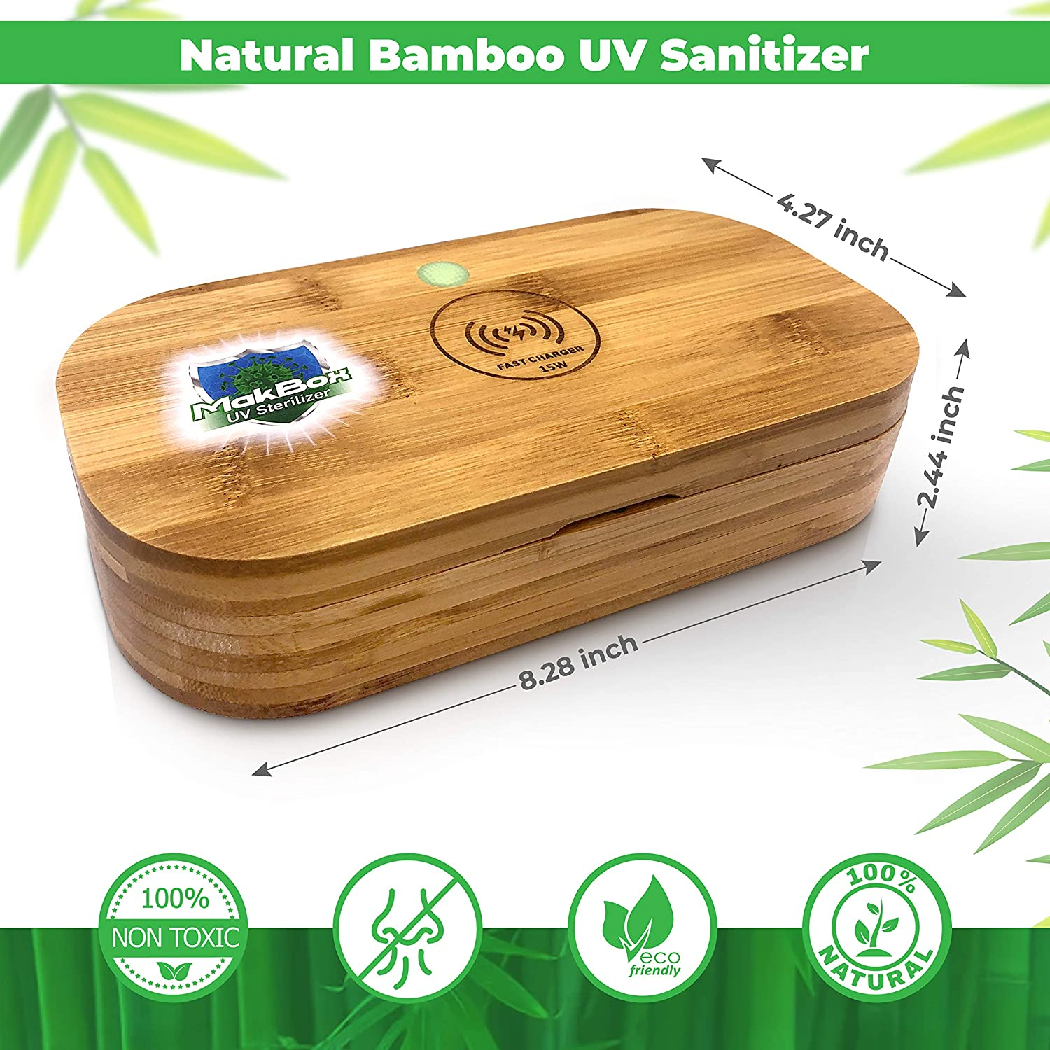 Sanitizer Made with Natural Bamboo