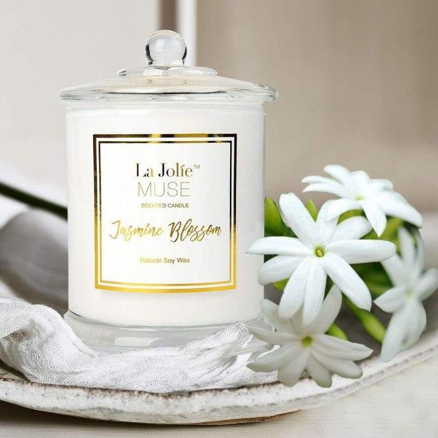 LA JOLIE MUSE Jasmine Scented Candle,