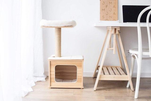 Wooden Cat Tree Condo