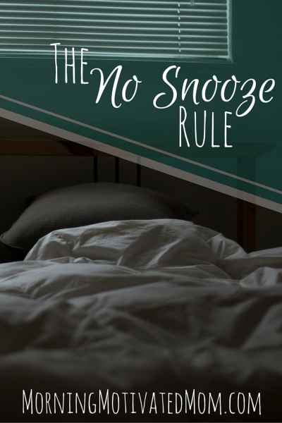 I started the No Snooze rule and I no longer start my morning with disrupted sleep. I'm enjoying the calm, constant wakefulness.