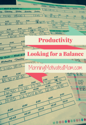 Productivity Looking for a Balance