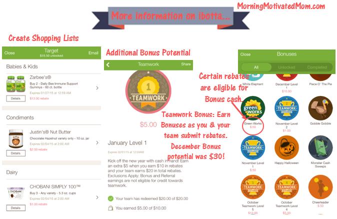 Ibotta Shopping List Bonus Potential