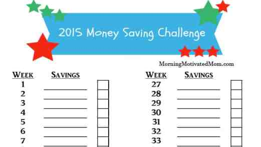 Money Saving Challenge for Kids with Printable