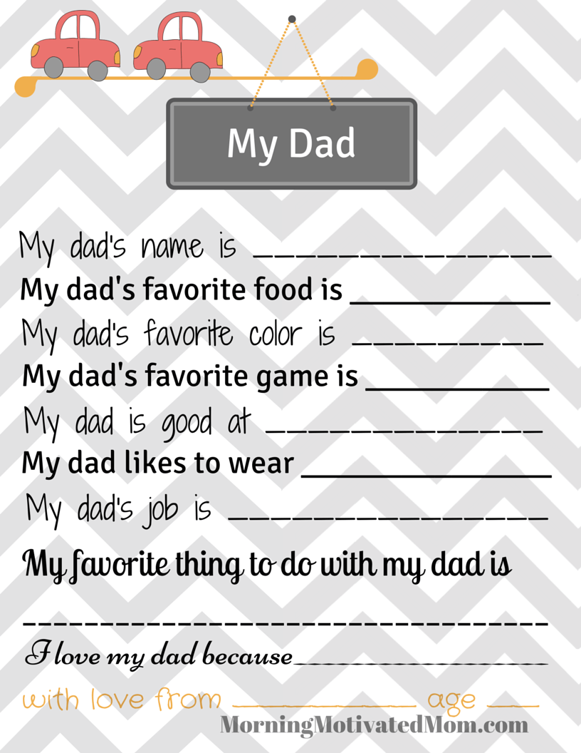 This is an image of Declarative All About Daddy Printable