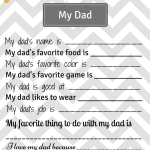 Handmade Gift for Dad – My Dad Printable Page