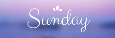 Sunday Linkups