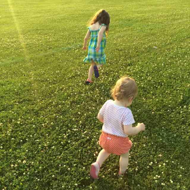 Girls Running Outside. Monthly Goals.