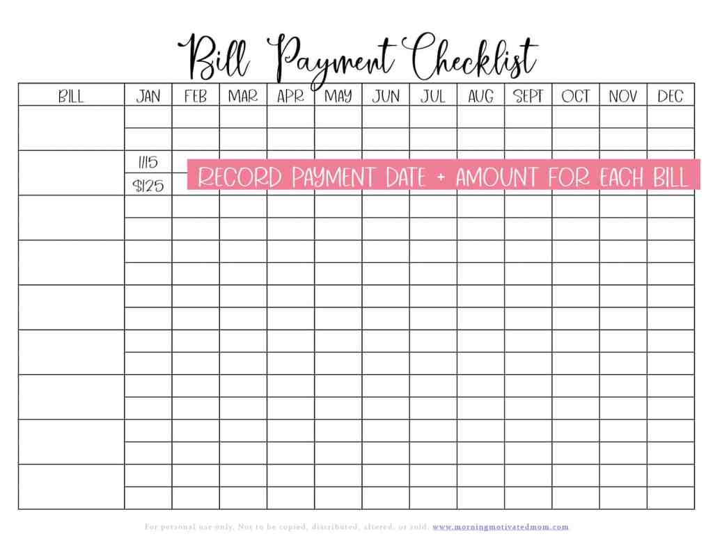 How to Organize Your Bills. Organize you home life with the free Bill Organization Printables. Bill Payment Checklist, Username and Password List, and Pre-Authorized Payment Tracker. Simplify, stay on track, and manage your home well! Bill Organization | Budgeting Tips | Free Money Printables