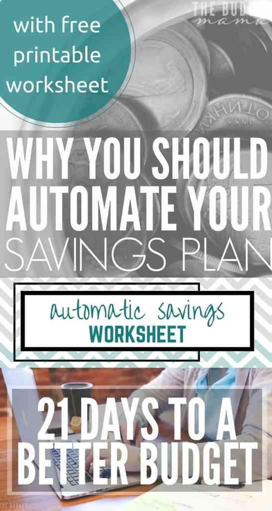 Automate Your Savings Plan with Free Printable Worksheet