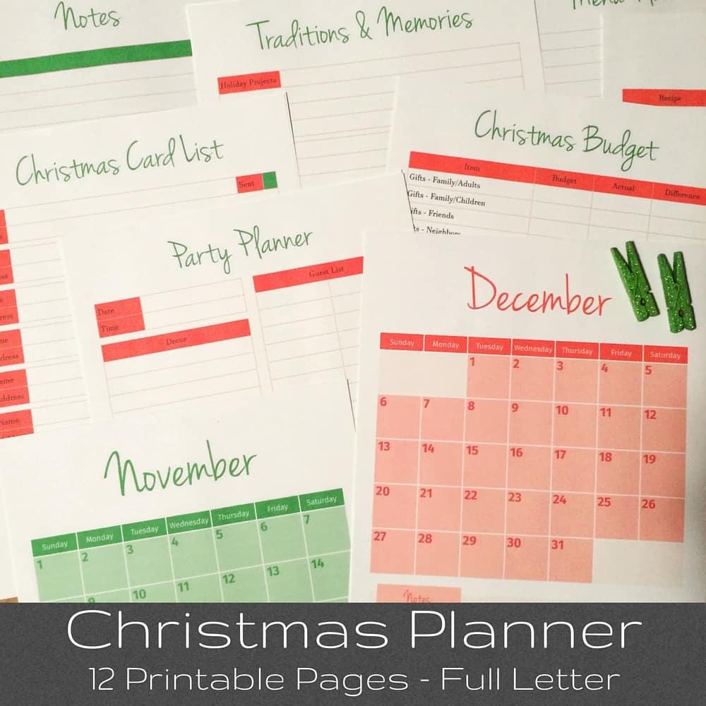 Merry Christmas Planner Organizer