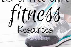 List of Free Online Fitness Resources