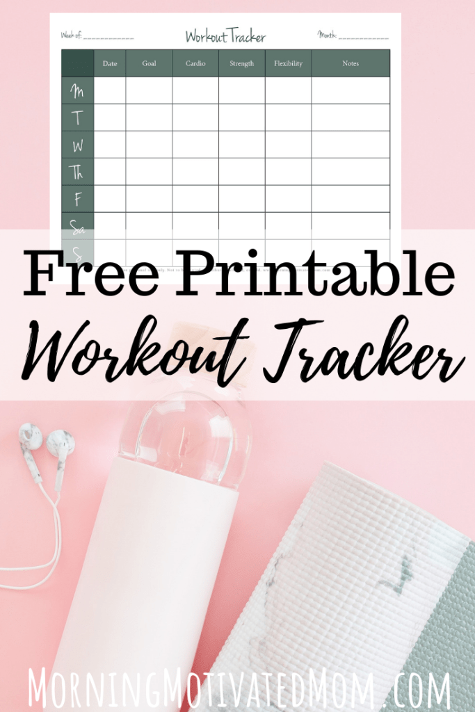 Track your weekly workouts on this Free Printable Workout Tracker. It's easier to stay on track with exercise if you write down and record your progress.