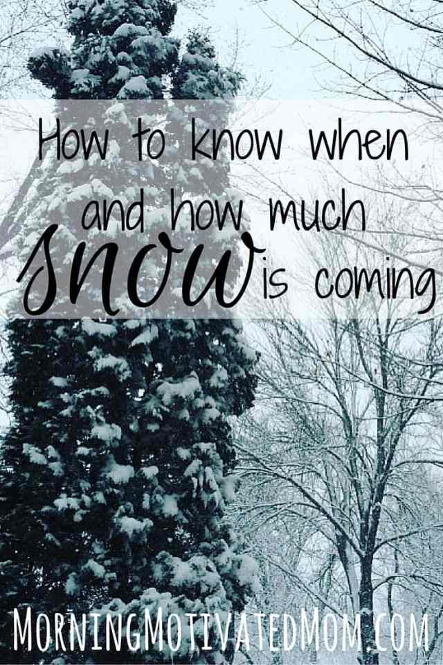 How to know when and how much snow is coming with SnowCast. A great app for winter
