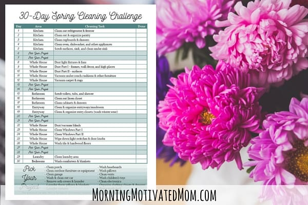 30 Day Spring Cleaning Printable