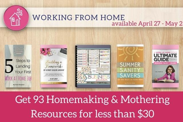 Working from Home Resources from the Ultimate Homemaking Bundle. Including Building a Framework!