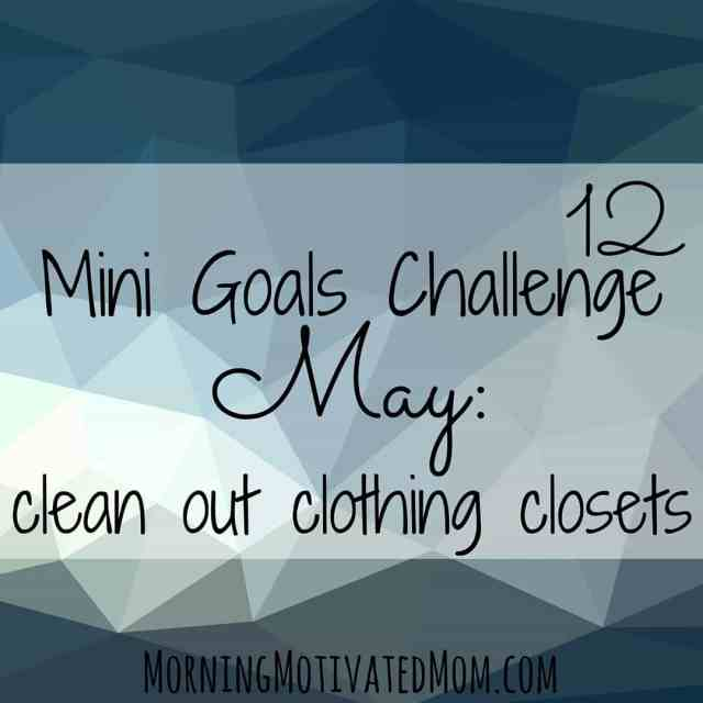 May Mini Goal: Clean Out Clothing Closets