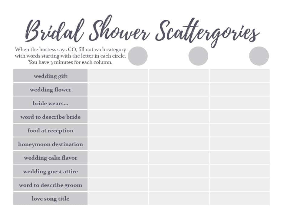 If you want to host a fun bridal shower, grab this free printable bridal shower game!