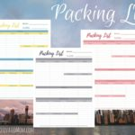 Free Travel Packing List Printable